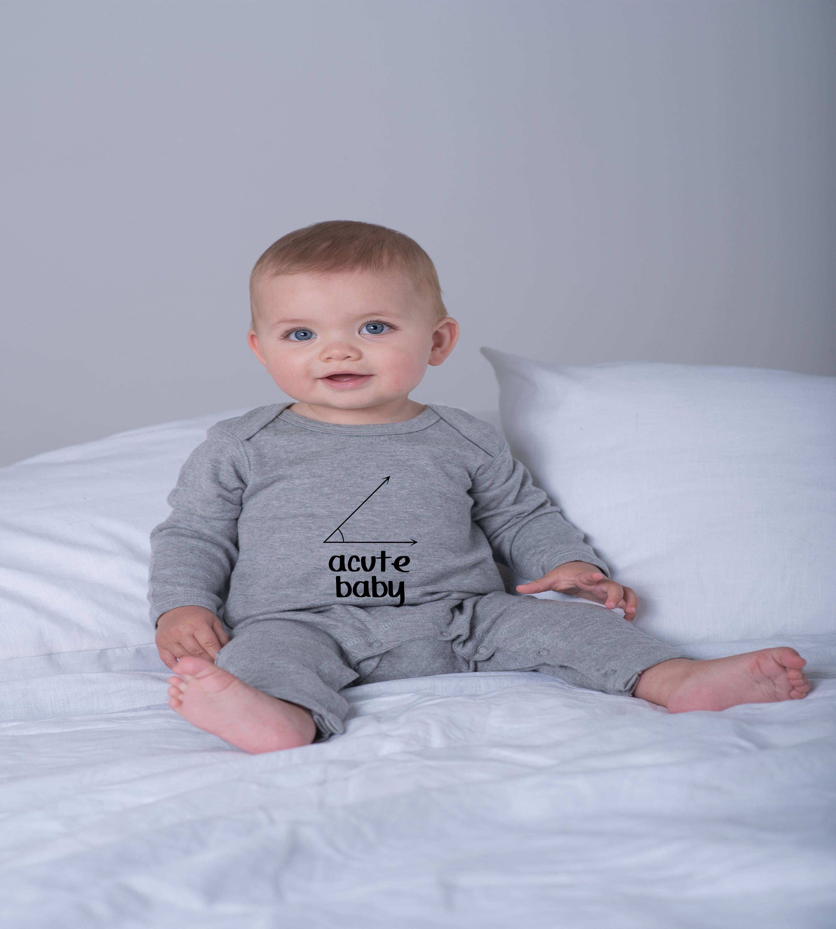 A cute baby acute baby maths geek angles baby romper baby clothing