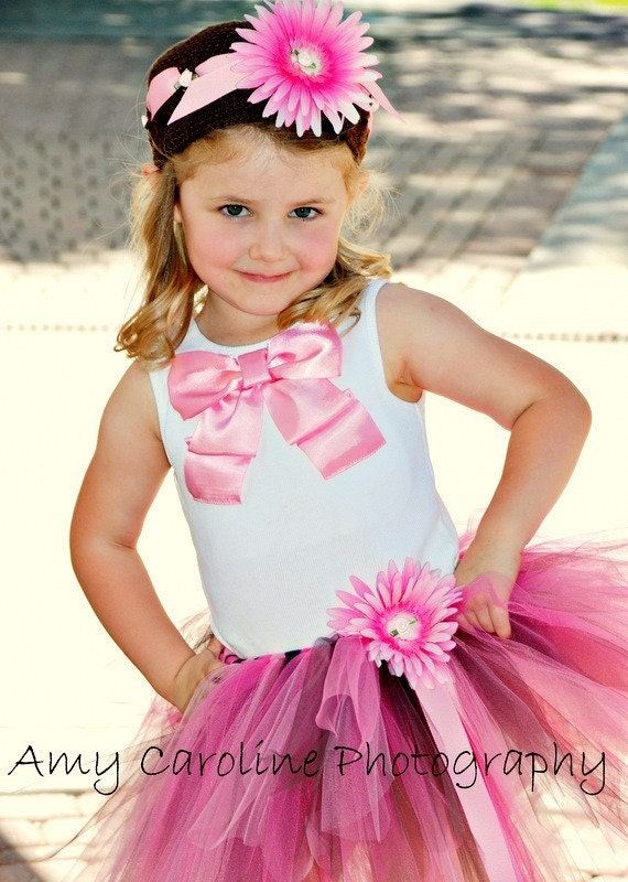 Chocolate Raspberry Swirl Tutu, Toddler size 2 to 5 years,  Gorgeous Birthday tutu and Photography prop