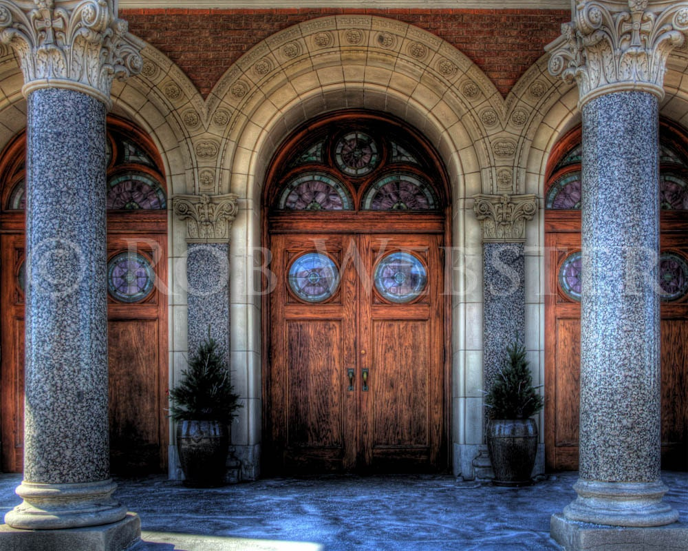 Our Lady of Sorrows Doorway, Kansas City, HDR 8x10 Fine Art Photo Print - RobWebsterPhoto