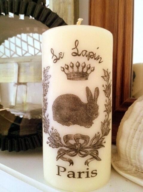 Французской Короны Кролик Le Лапин компонент запаха свечей