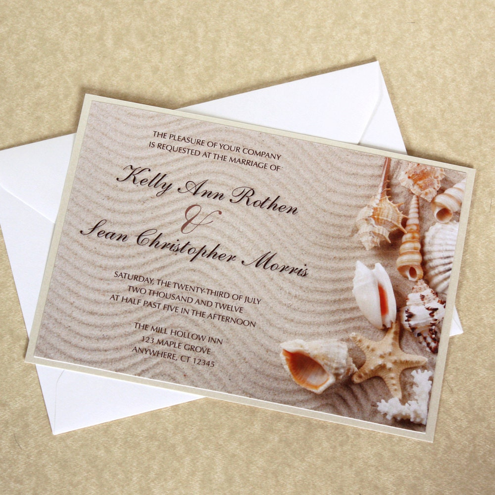 Seashell Wedding Invitations absolutely amazing ideas for your invitation example