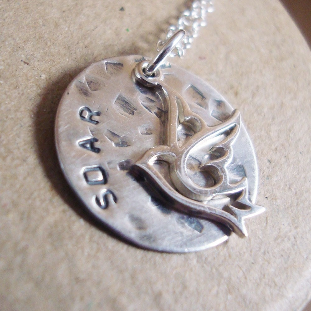 SOAR Hand Stamped Inspirational Necklace