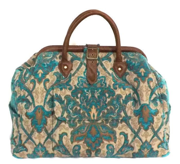 Mary Poppins Style Large Custom Carpet Bag $300.00 AT vintagedancer.com