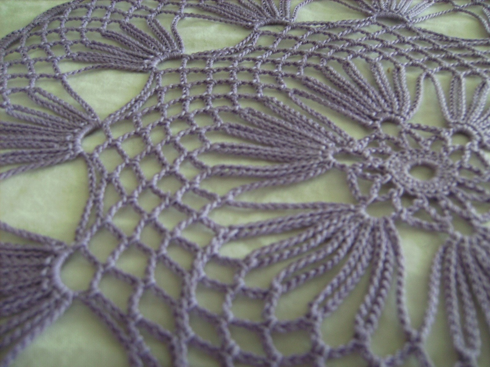 Lilac Hand Crochet Table Doily 12 5 Inch Diameter