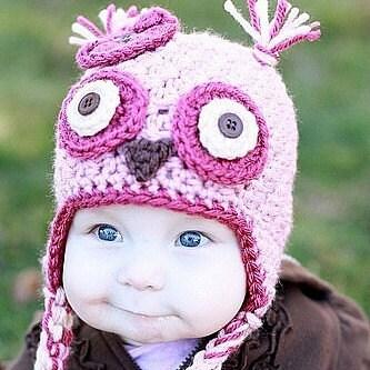 Пинки уха Сова Вязание закрылки Hat на заказ вы выбираете размер