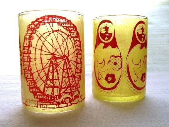 Ferris Wheel and Russian Dolls Votive Duo