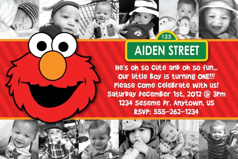 Custom Elmo Invitation birthday baby shower by ...