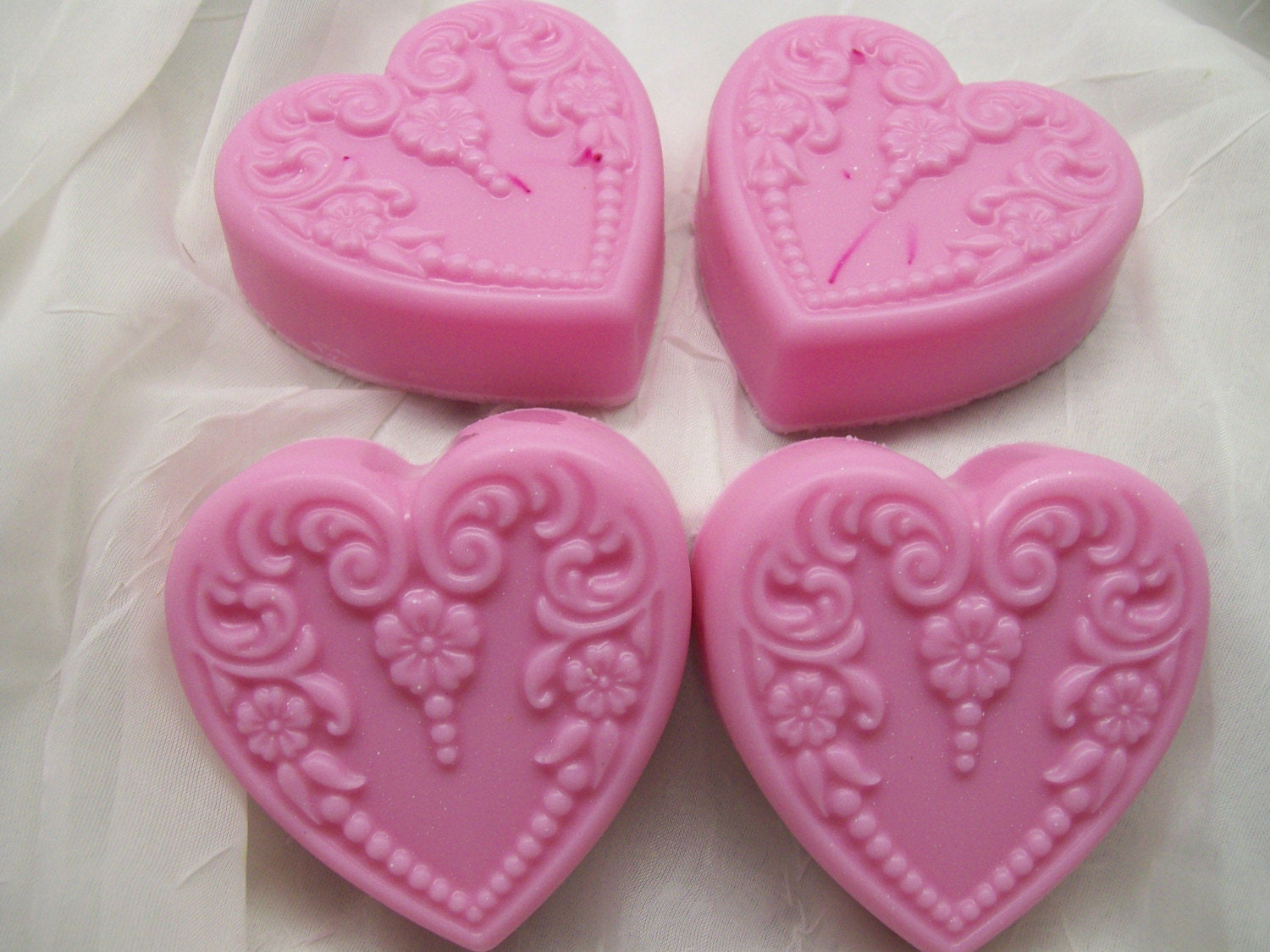 Chocolate Shea Butter Heart Shaped Soap
