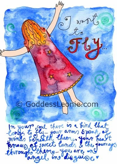 I want to fly: Art print