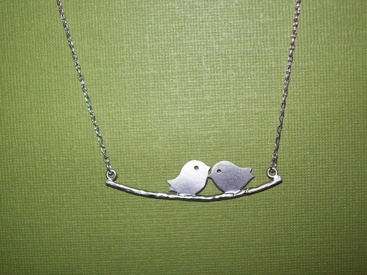 Love Birds on Branch Necklace