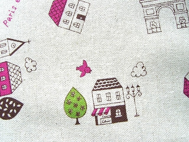 Cute Japanese Cotton Fabric-Cute Town Half Yard (F134)
