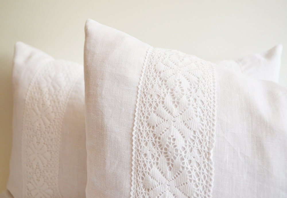 Sukan / 1 white lace pillow decorative throw pillows by sukan