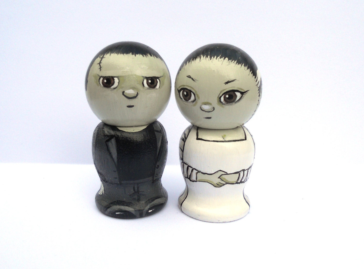 brunette wedding cake toppers