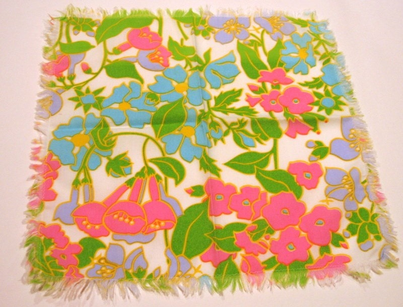 Vintage floral cotton napkins (set of 6)