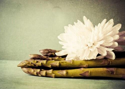 Ода Аспара-парни.  причудливые фотографии пищи.  спаржа печати.  современные кулинарные декора.  причудливый искусства кухни.  цветок фотографии