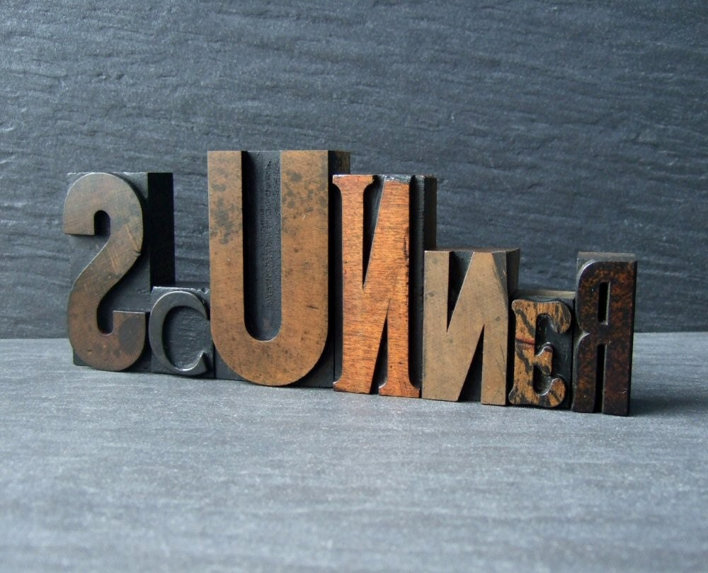 SCUNNER - Scottish letterpress Word