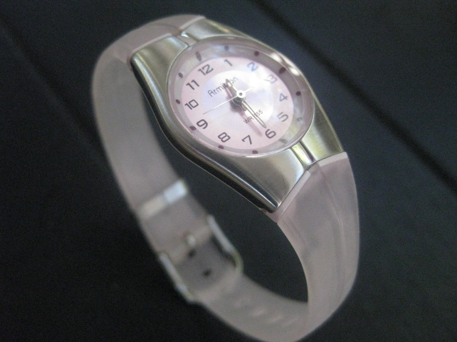 Vintage Armitron Pale Pink Watch Works Perfectly New Battery