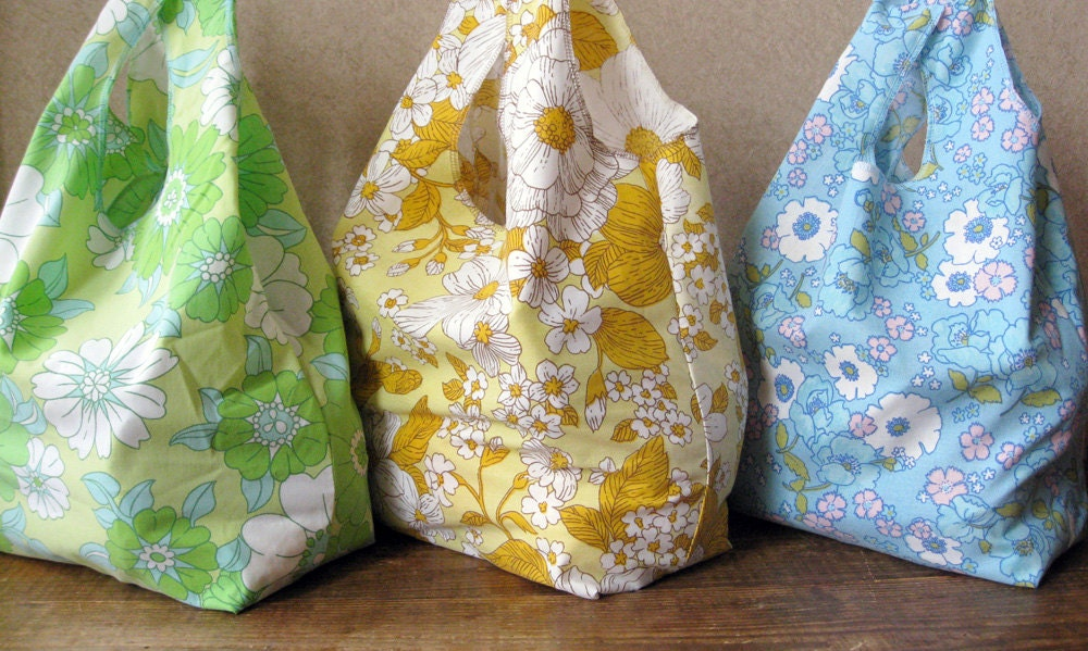 The bags were just launched on Reusable Grocery Bag Pattern