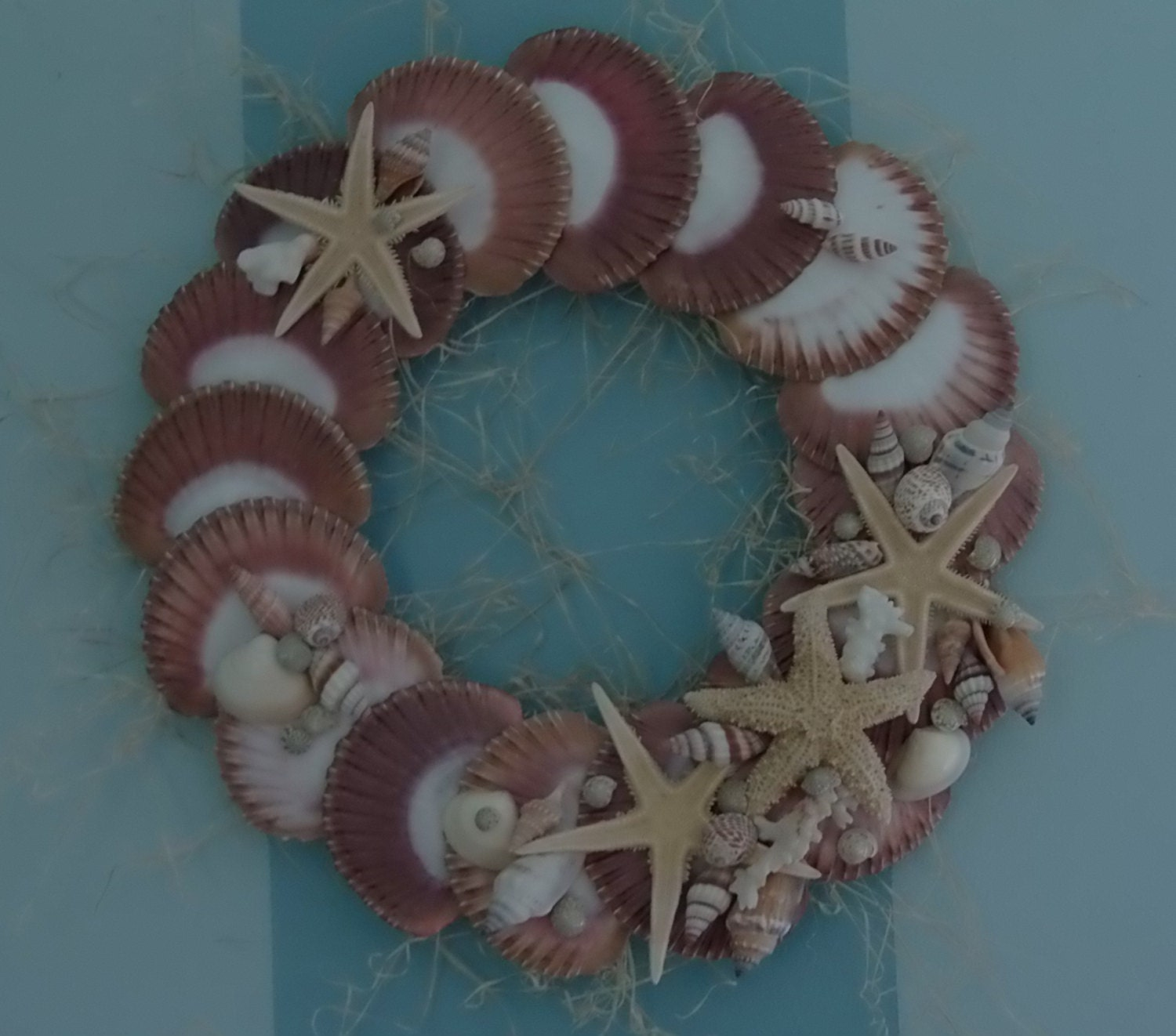 SEASHELL WREATH Beach Cottage Home Decor - OceansofShells