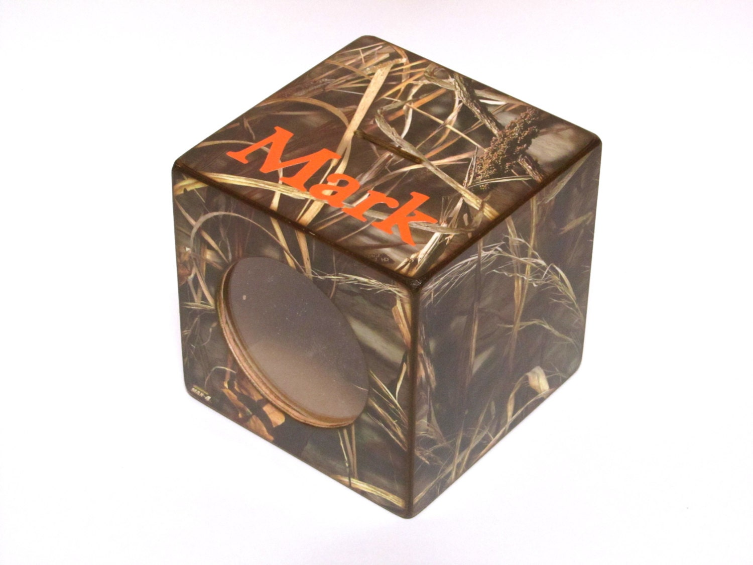 Max 4 camo bank boys wood coin piggy bank by kelleyspapercrafts - Coin banks for boys ...