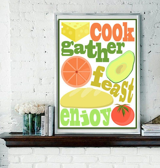 Kitchen poster design