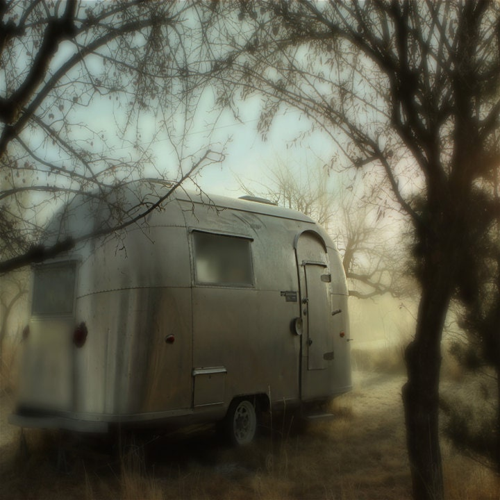 Photography Landscape Airstream Photography Fine Art Photography Vintage Airstream 12x12 - lucysnowephotography
