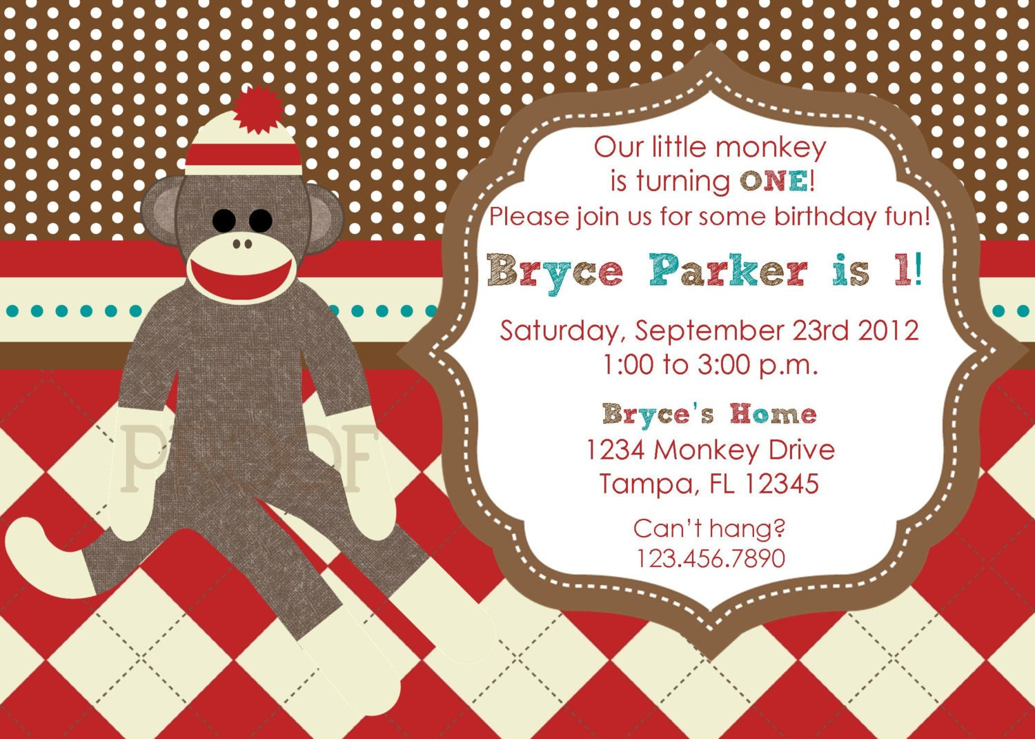 Sock Monkey Birthday Invitations is an amazing ideas you had to choose for invitation design
