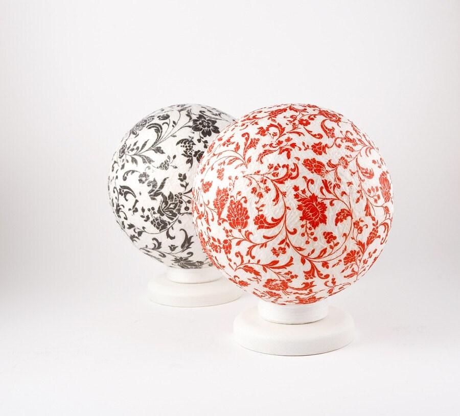 Настольная лампа, акцент лампа, ночник Красной Романтика, Современный дизайн интерьера акцент на FiligreeCreations на Etsy