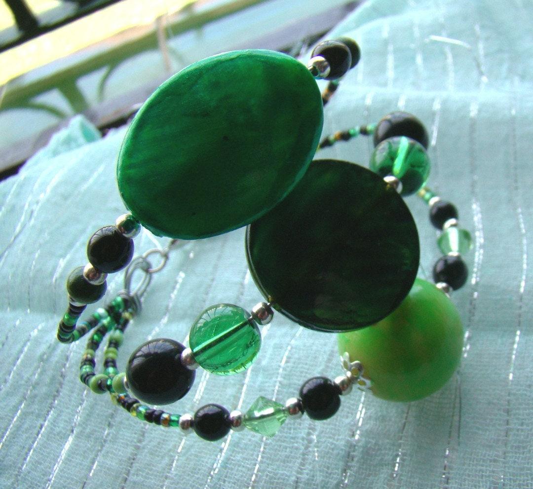The Absinthe Cuff Green bracelets El Brazalete by MissCristal
