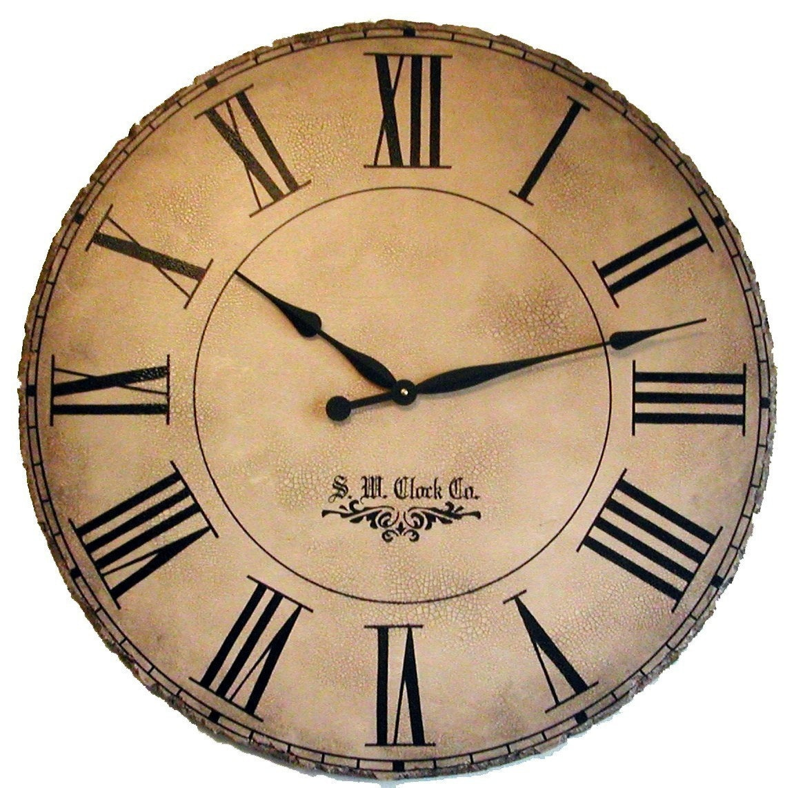 36 in Grand Gallery Extra Large Wall Clock Antique by