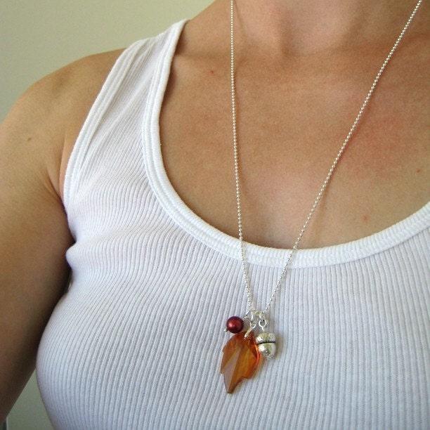 Sparkly Leaf Necklace