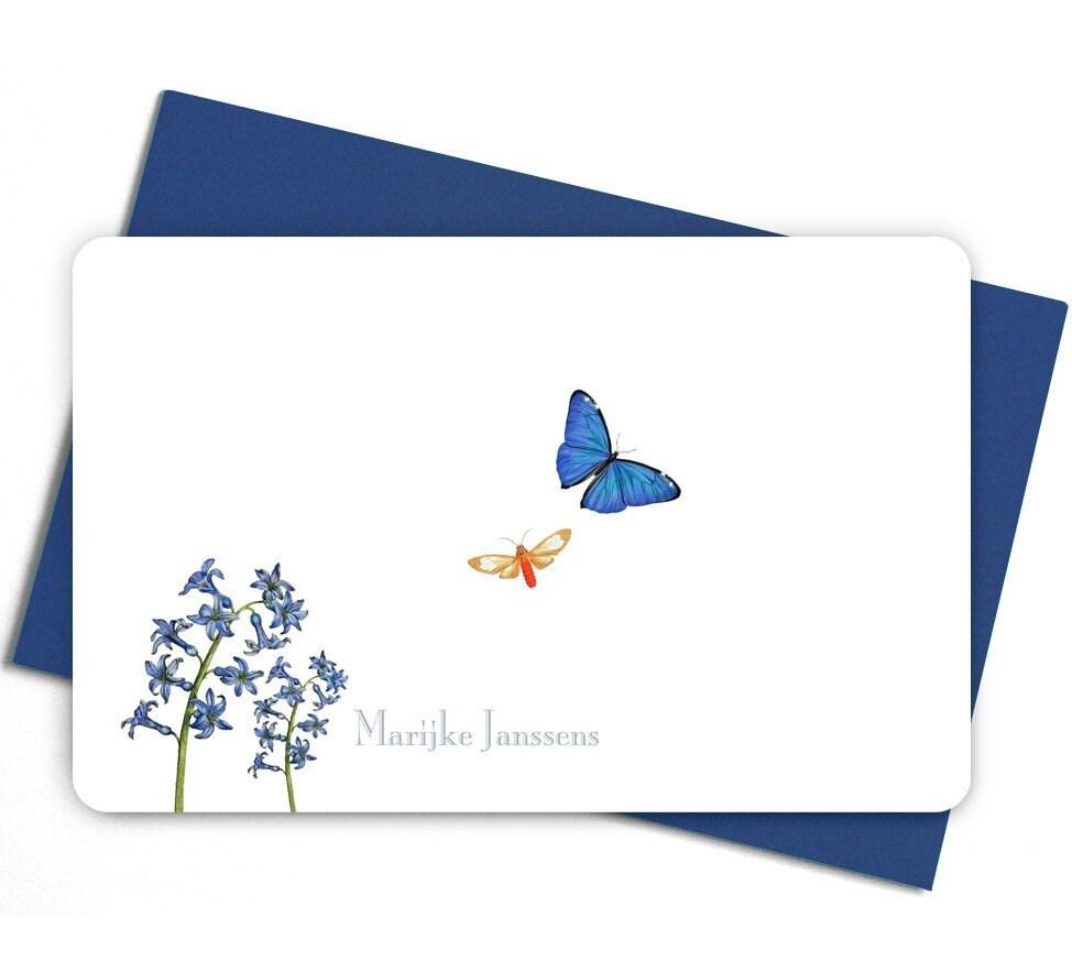 Personalised notecards - Flying butterflies