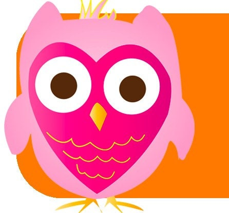 Pre-made Banner Pink and Pumpkin Cute Little Owl