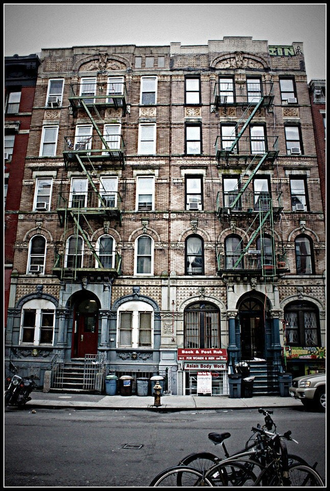 5x7 Print Led Zeppelin Physical Graffiti Building in the East Village of New York City