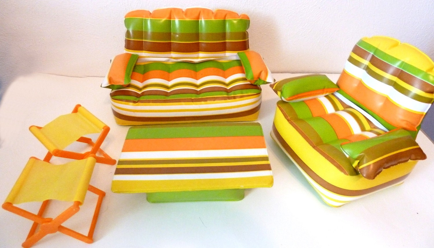 Inflatable Barbie Furniture 1970s By Sinderellasattic On Etsy