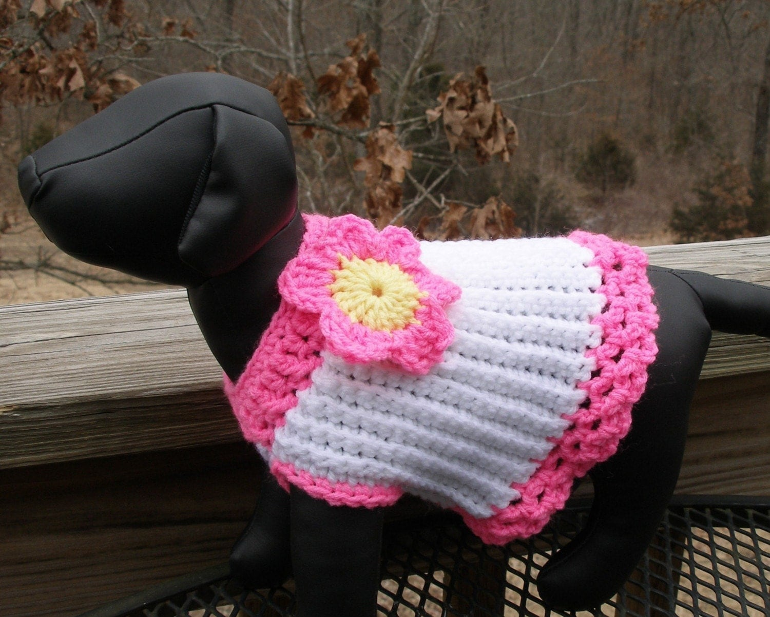 Crochet Pattern For Yorkie Sweater : easy yorkie dog sweater free crochet pattern from the pets