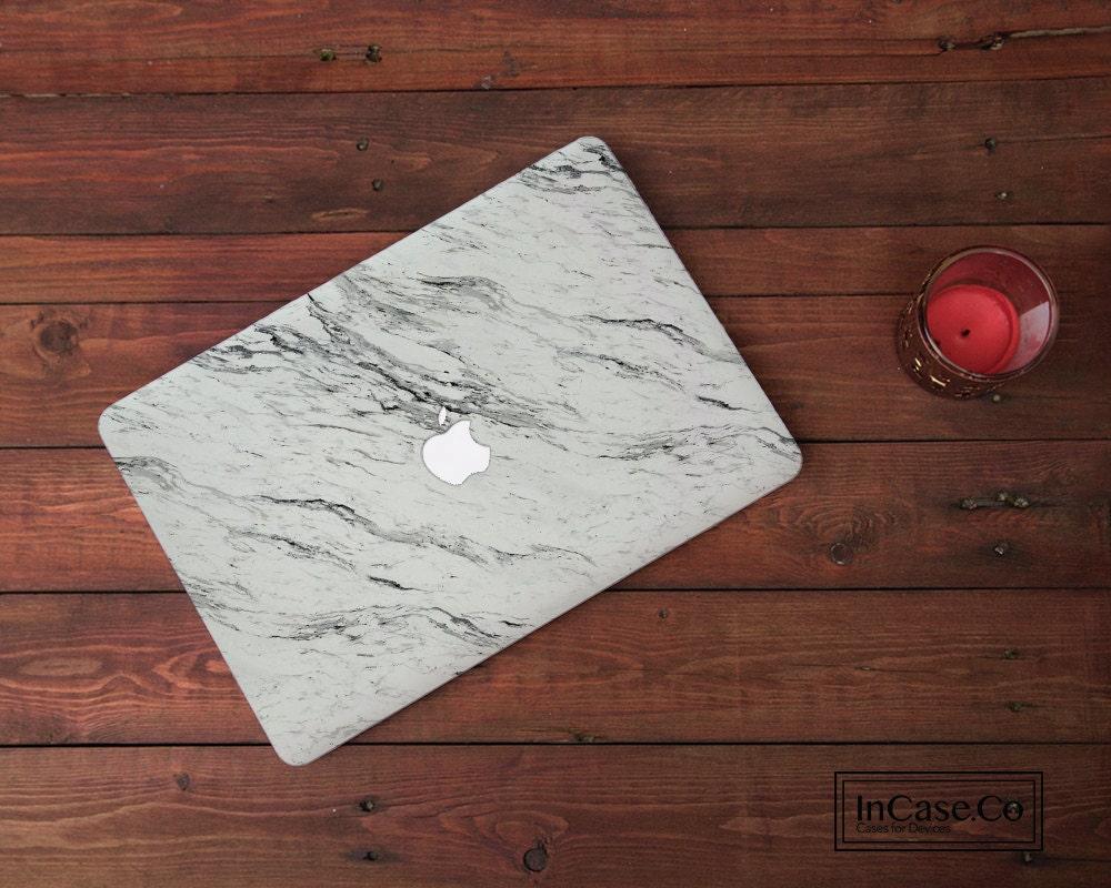 White Marble 4 Macbook Pro Hard Plastic White Marble Case Macbook Pro Retina and Non Retina Display Macbook Air Hard Case