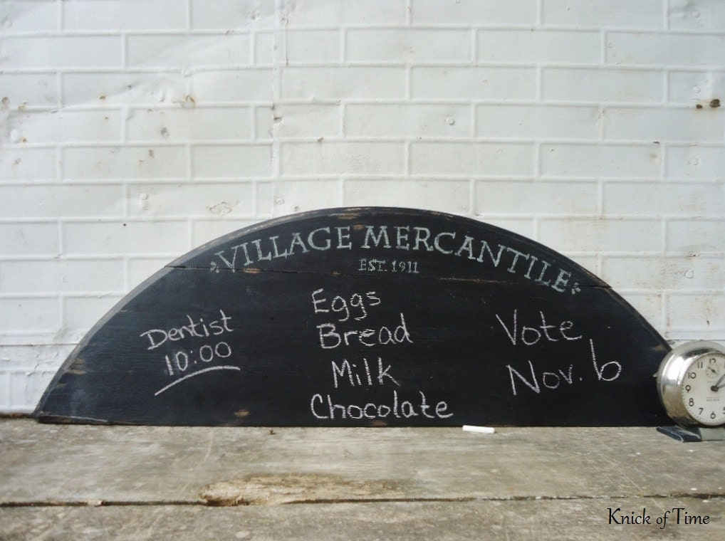 Large Wooden Chalkboard Sign from Antique Table Salvage - VILLAGE MERCANTILE