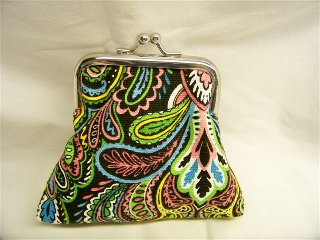 PK Coin Purse - Paisley Neon