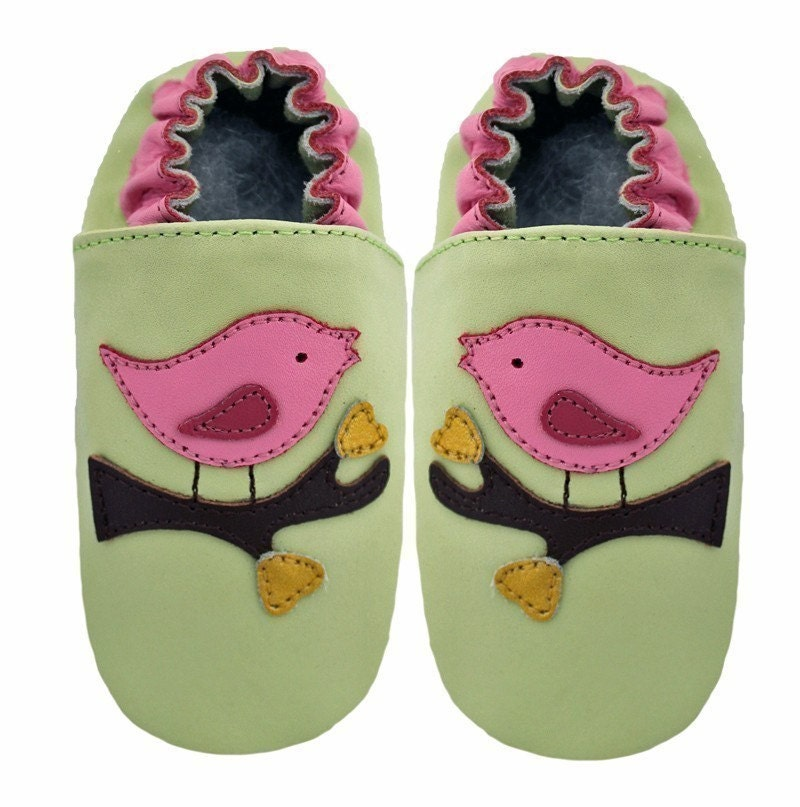 Leather Bird Shoes - 12-18
