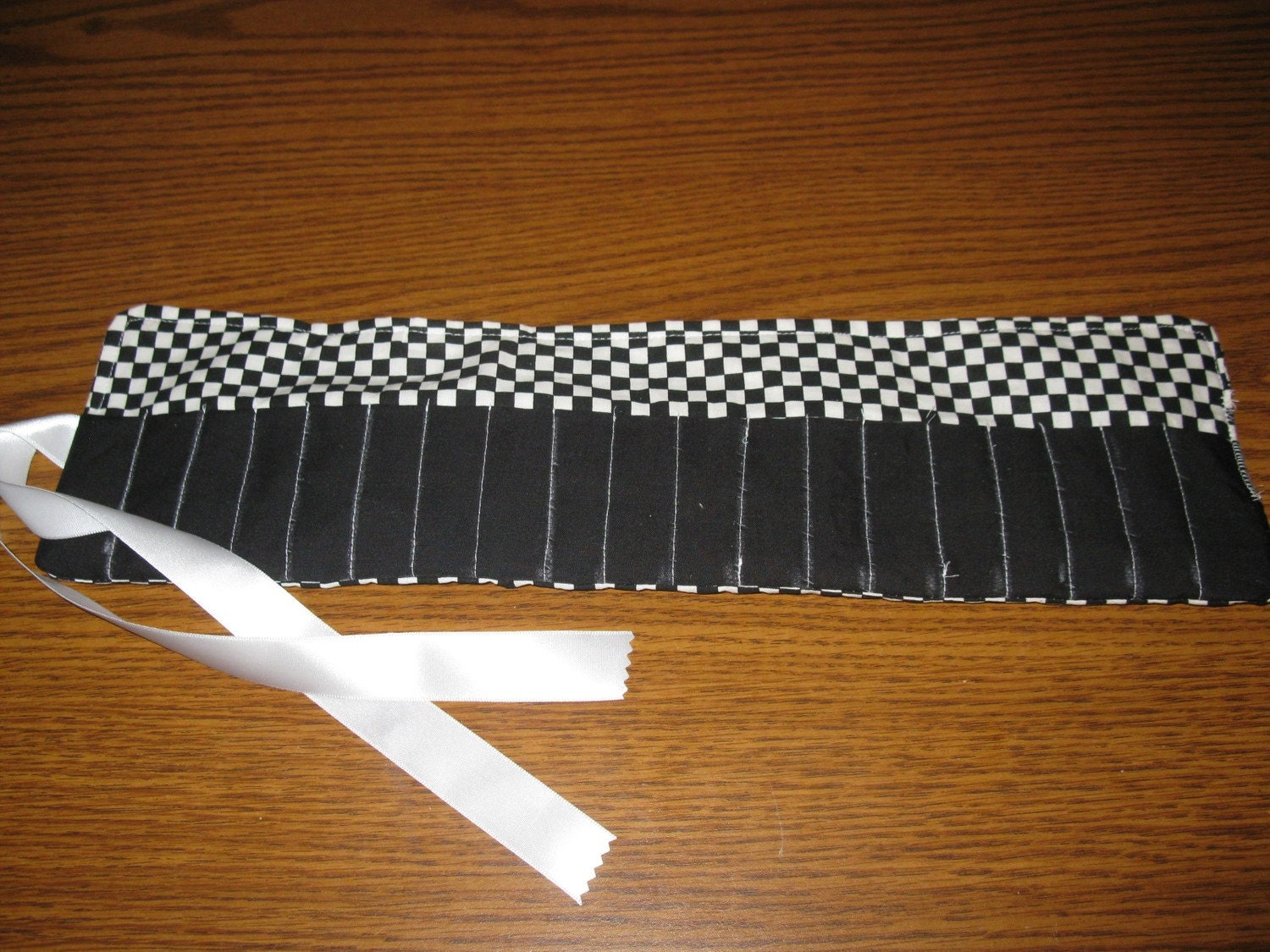 Checkered Flag Crayon Roll Crayon Holder Crayon Storage