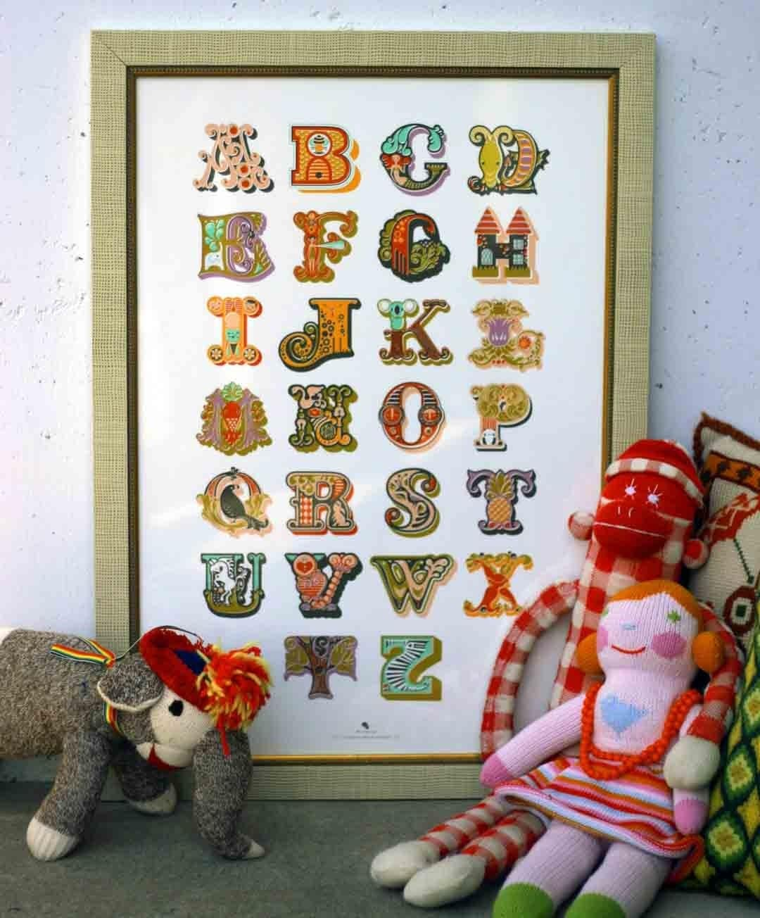 Decorative Modern Alphabet Giclee Print