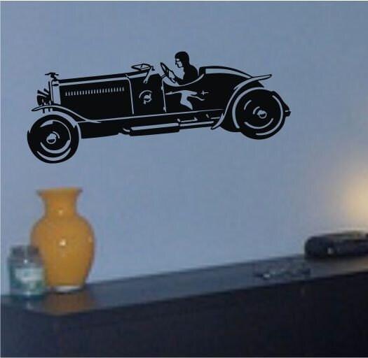 Hotrod Adesivo Arte Mural Graphic Vintage Baby Nursery Room Office Boy Girl automóvel carro