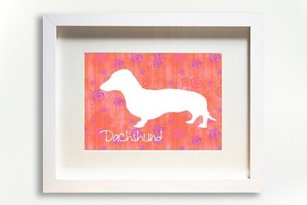 Dachshund Dog Print Modern Design Silhouette - WagAvenue