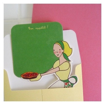 paper doll card - A baker