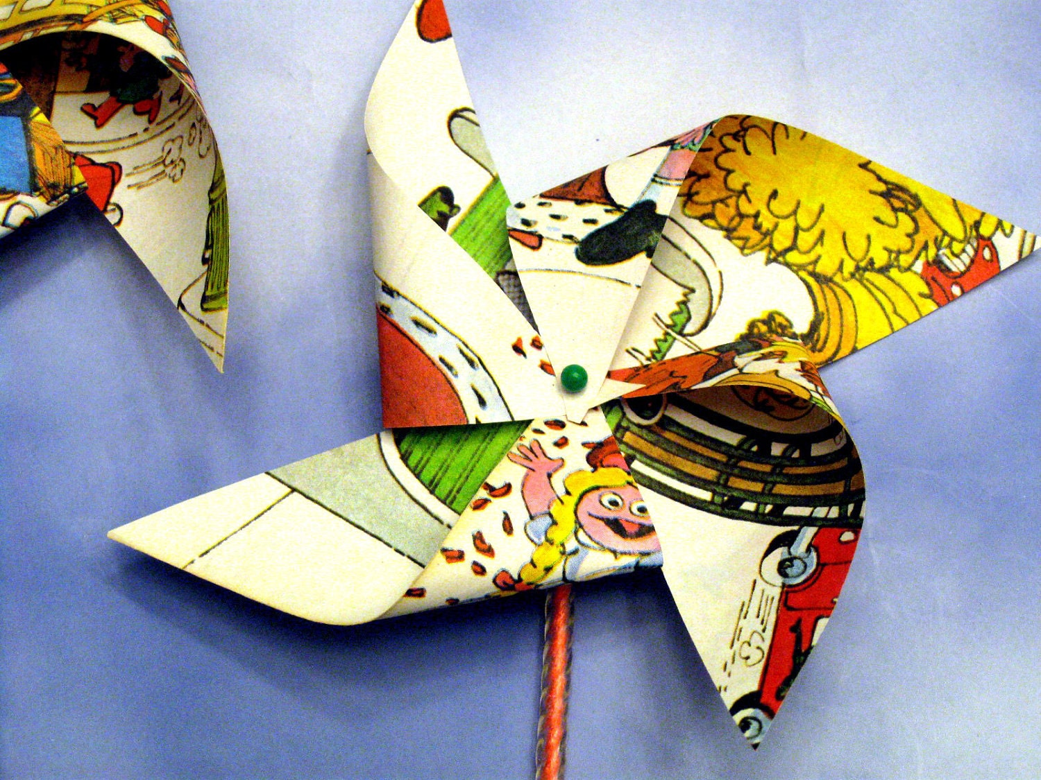 Petite Paper Pinwheels Upcycled Made from the pages of a Vintage Little Golden Book
