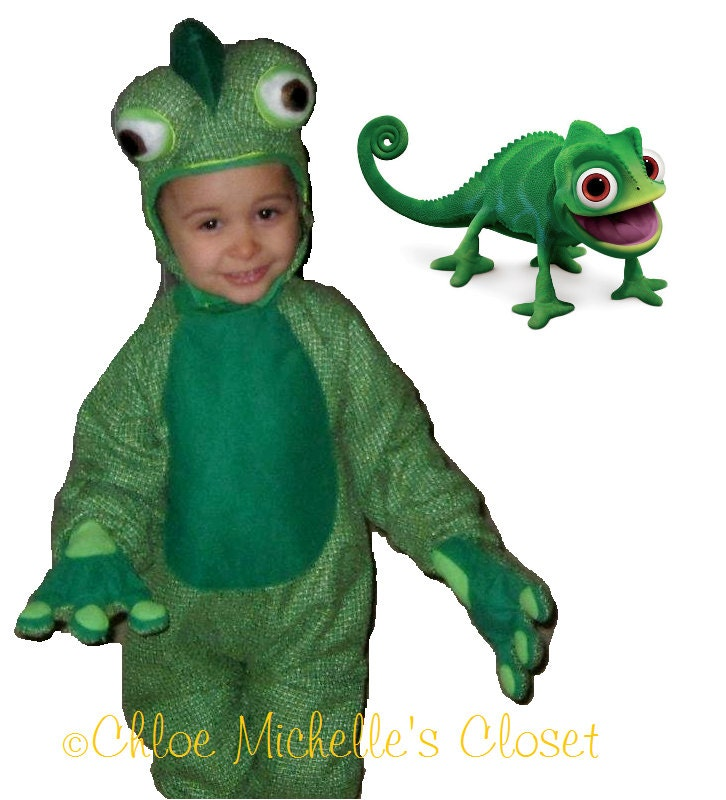 Tangled pascal costume green chameleon costume size 12 18 months