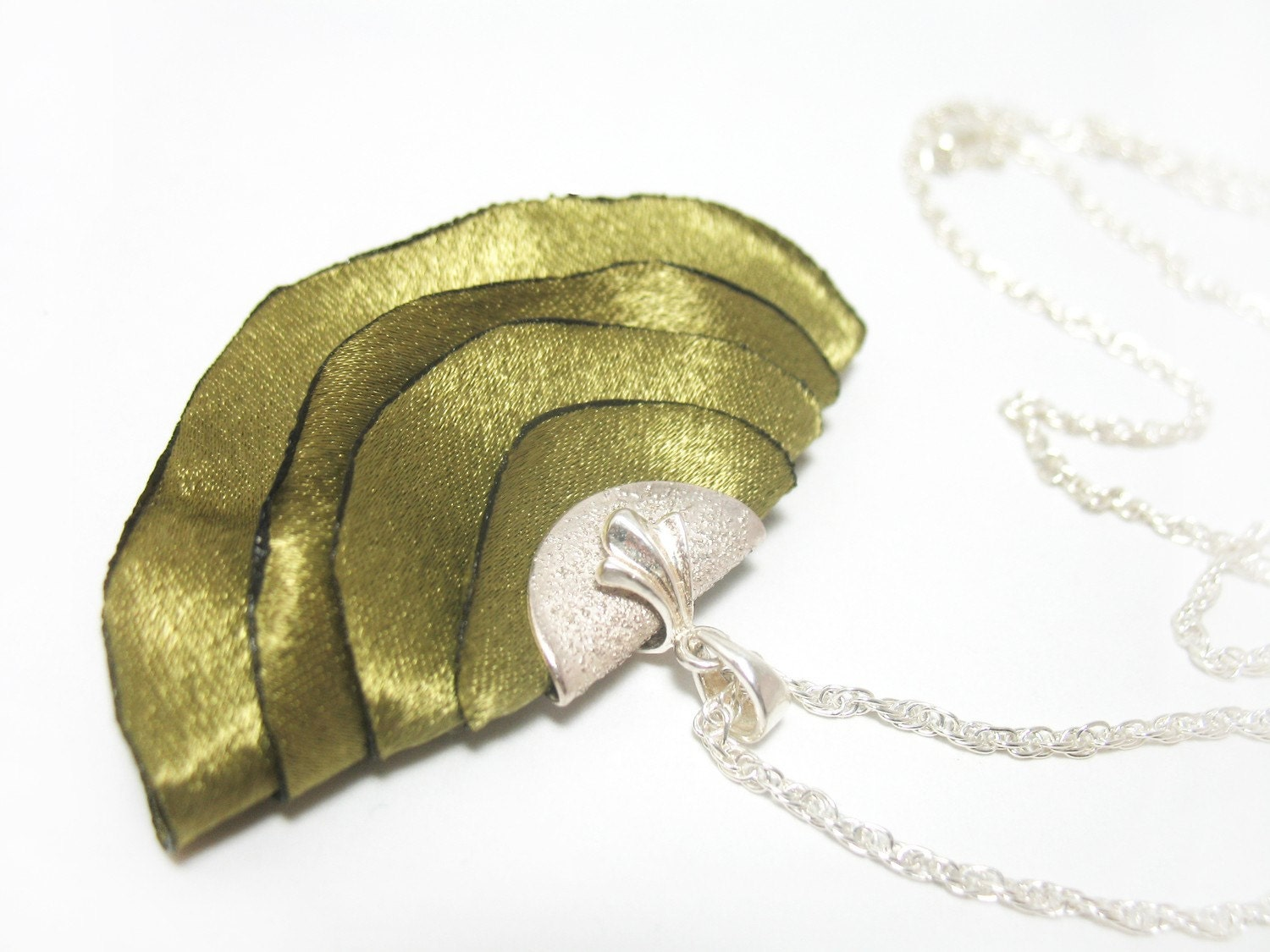 Olive Fabric Necklace