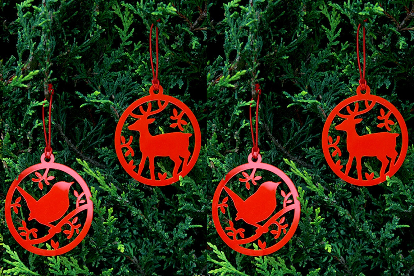 Christmas Decorations for Tree Set of 4
