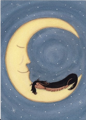 long haired dachshund black and tan. Black and tan longhaired dachshund (doxie) sleeping on the moon / Lynch folk art print. From watercolorqueen